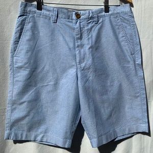 J. CREW Club Oxford Blue Flat Front Casual Short